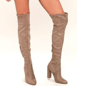 Steven Madden Over the Knee Taupe Boot
